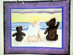 Angel Baby and Two Teddy Bears by Luke's Dad